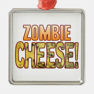 Zombie Blue Cheese Metal Ornament