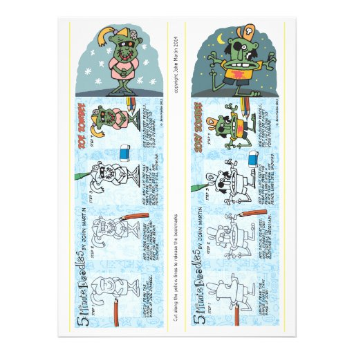Zombie Bookmarks Personalized Invites
