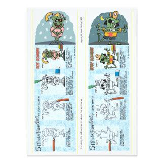 Zombie Bookmarks 6.5x8.75 Paper Invitation Card
