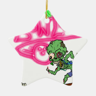 Zombie Bowling Ceramic Ornament