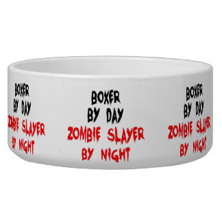 Zombie Boxer Dog Joke Bowl