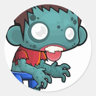 Zombie Boy Comic Classic Round Sticker