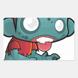 Zombie Boy Comic Rectangular Sticker