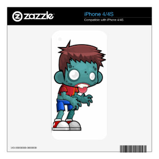 Zombie Boy Comic Skins For The iPhone 4