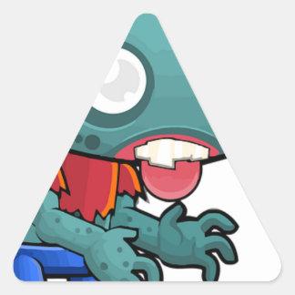 Zombie Boy Comic Triangle Sticker