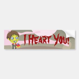 Zombie Boy - I Heart You Bumper Sticker