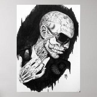 Zombie Boy Portrait Poster