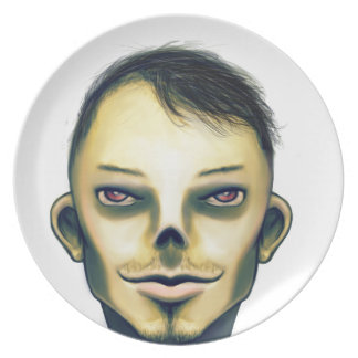 Zombie Boy Smiling Melamine Plate