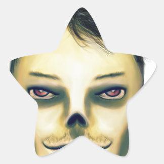 Zombie Boy Smiling Star Sticker
