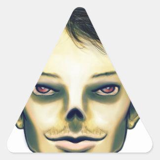Zombie Boy Smiling Triangle Sticker