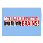 Zombie Boyfriend Loves Brains BUMPER Design Card