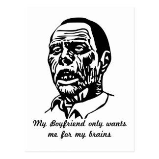 zombie boyfriend postcard