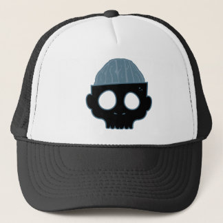 Zombie Brain Blue Trucker Hat