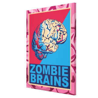 Zombie Brain Canvas Print