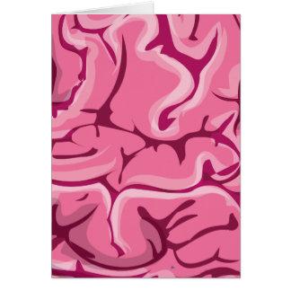 Zombie Brain Greeting Card
