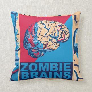 Zombie Brain Throw Pillow