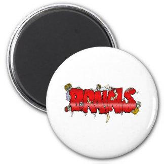 Zombie BRAINS 2 Inch Round Magnet