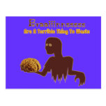 Zombie Brains Are Terrible Thing To Waste Design Postcard
