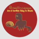 Zombie Brains Are Terrible Thing To Waste Design Stickers