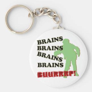 Zombie Brains Brains Brains Burp! Basic Round Button Keychain