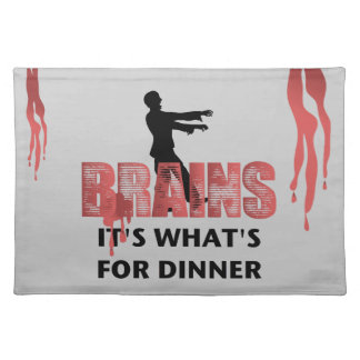 Zombie Brains Dinner Cloth Placemat