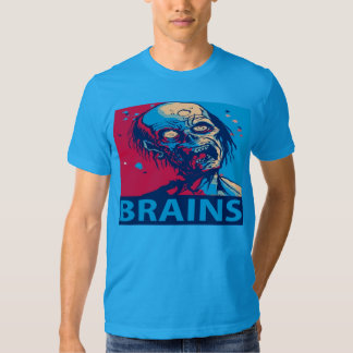 zombie brains horror tee shirt