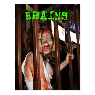 Zombie BRAINS Postcard