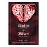 Zombie Brains Wedding RSVP Card