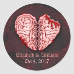 Zombie Brains Wedding Stickers