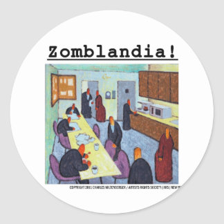 Zombie Breakroom II Gifts Classic Round Sticker