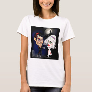 Zombie bride and groom caricature gift www.leahg.m T-Shirt