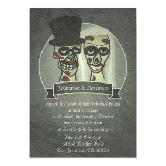 Zombie Bride & Groom Wedding Invitations