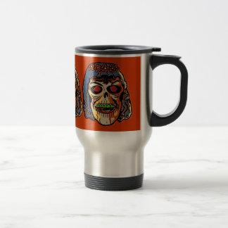 Zombie Bride - Vintage Halloween Mask Travel Mug