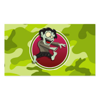 Zombie; bright green camo, camouflage Double-Sided standard business cards (Pack of 100)
