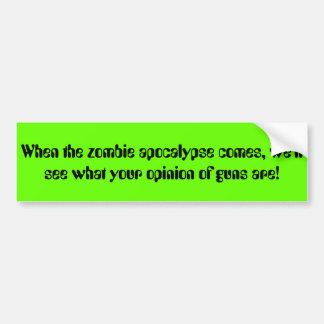 Zombie bumper sticker