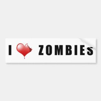 Zombie BumperSticker Bumper Stickers