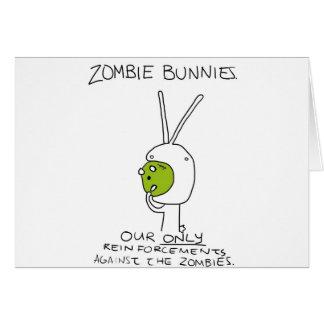 Zombie Bunnies! (w/o stripes) Greeting Cards