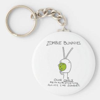 Zombie Bunnies! (w/o stripes) Key Chains