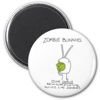 Zombie Bunnies! (w/o stripes) Refrigerator Magnets