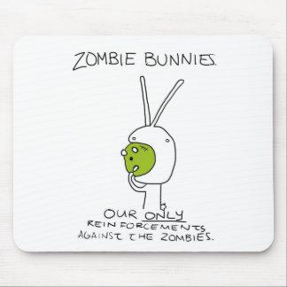 Zombie Bunnies! (w/o stripes) Mousepad
