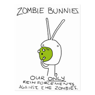 Zombie Bunnies! (w/o stripes) Postcard
