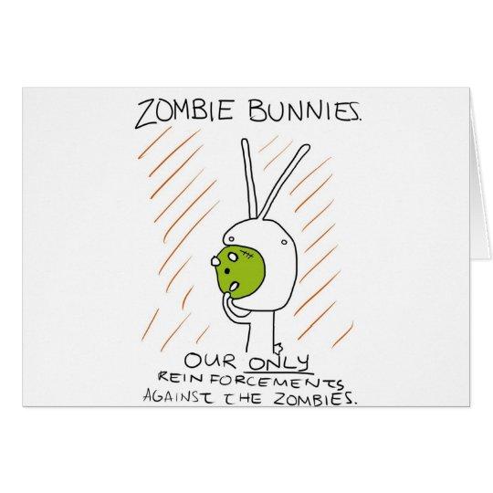 Zombie Bunnies! (w/ stripes) Card