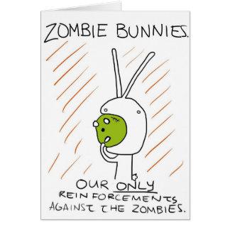 Zombie Bunnies! (w/ stripes) Greeting Cards