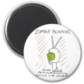 Zombie Bunnies! (w/ stripes) Refrigerator Magnet