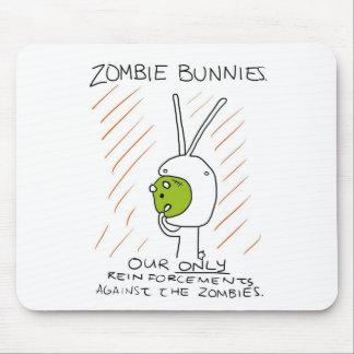 Zombie Bunnies! (w/ stripes) Mouse Pads
