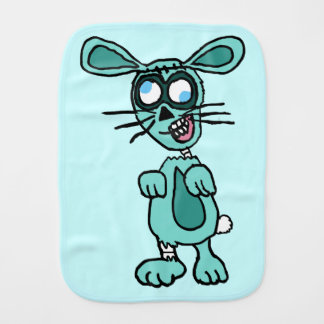 Zombie Bunny Cartoon Baby Burp Cloth