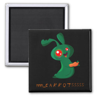 Zombie Bunny 2 Inch Square Magnet