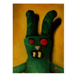 Zombie Bunny Postcard