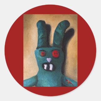 Zombie Bunny Retake Classic Round Sticker