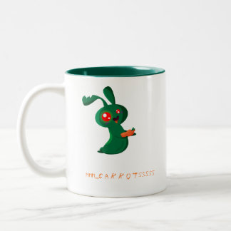 Zombie Bunny Two-Tone Coffee Mug